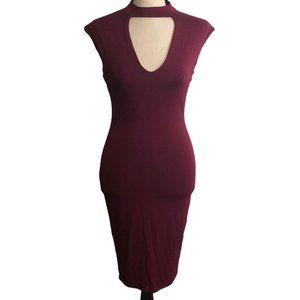 Soprano Bodycon Halter Sleeveless Dress Small